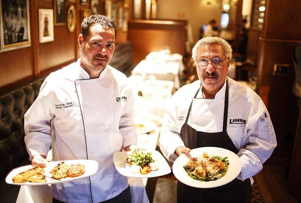 Legend's Steak and Italian Restaurant chef Jeremy Caprari and his father, Ray, Friday in the dining room in Breckenridge.