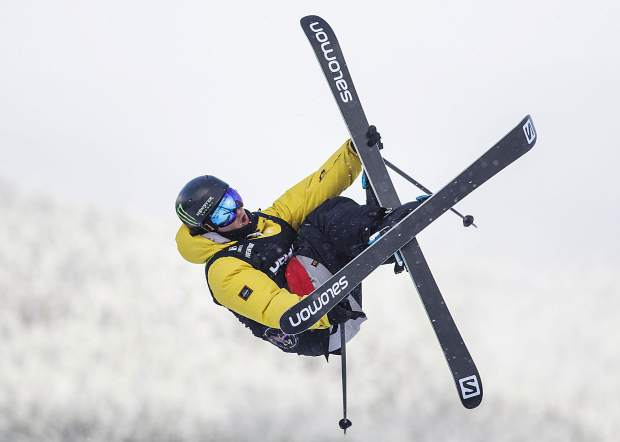 James Woods competes in the slopestyle qualifiers during the Dew Tour event Thursday, Dec. 14, at Breckenridge Ski Resort. The Brit Woods qualified for Saturday's final with a score of 84.00.
