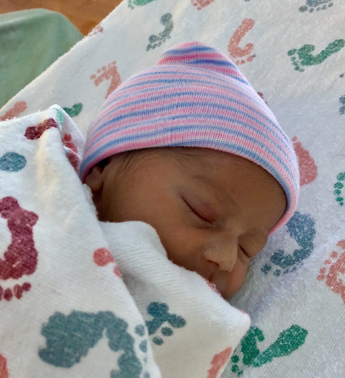 Winter Stormm Mendez was the first baby born in Summit County in 2018.