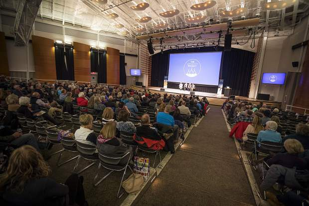 People attend the Longevity Project event Tuesday, Feb. 27, at the Riverwalk Center in Breckenridge.