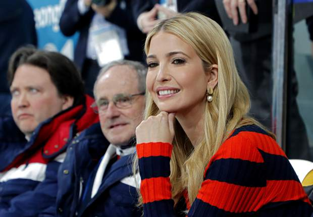 Ivanka Trump, U.S. President Donald Trump's daughter and senior White House adviser, watches the men's final curling match between United States and Sweden at the 2018 Winter Olympics in Gangneung, South Korea, Saturday, Feb. 24, 2018. (Eric Gaillard/Pool Photo via AP)