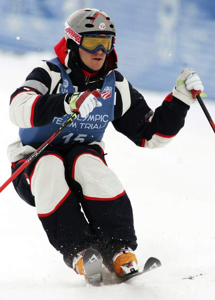 In this Dec. 30, 2005 file photo, Jeremy Bloom, of Loveland, skis moguls on the way to winning a spot on the U.S. Olympic team during the U.S. Olympic Freestyle Moguls team trials in Steamboat, Colo. With the anticipation of the Winter Olympics growing, Bloom has little time to look back on what could've been when he competed at the 2002 and 2006 Winter Games. Instead, he keeps freestyling through life with the same gusto that he displayed during his athletic career.