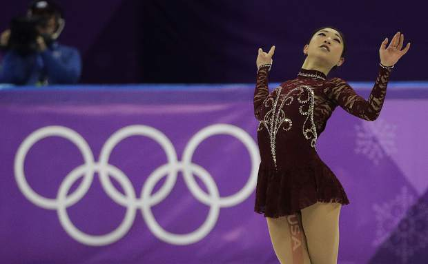 Mirai Nagasu of the United States performs during the women's short program figure skating in the Gangneung Ice Arena at the 2018 Winter Olympics in Gangneung, South Korea, Wednesday.