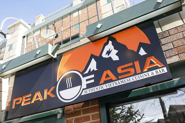 Peak of Asia front entrance along Main Street in Breckenridge.