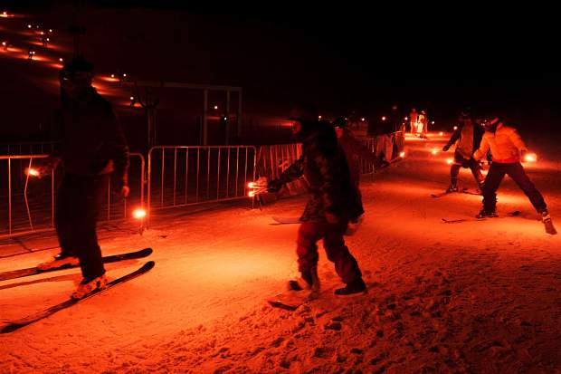 It was a skiing and snowboarding scene of lighting up the night sky at the Special Olympics Colorado Winter Games at Copper Mountain Resort on Feb. 24-25.