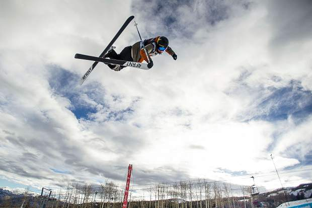 Alex Ferreira airs out of the halfpipe at a U.S. Grand Prix Olympic qualifier in Snowmass in January. Ferreira finished second at the event, helping pave his way to an International Ski Federation overall season title, known as the crystal globe for the trophy awarded to its recipients.