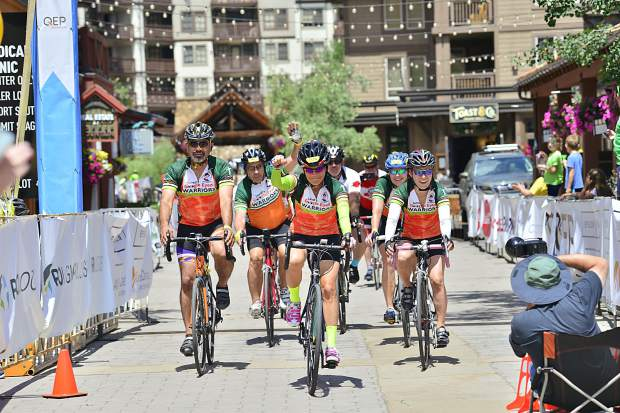 Riders finish the 29th Courage Classic on Sunday, July 23, at Copper Mountain..