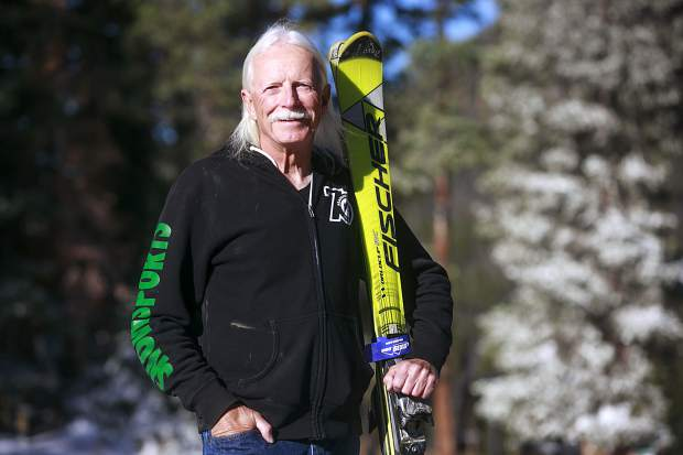Silverthorne resident Steve Plummer, who has skied every month for 10 years here in Summit County using both man-made and natural snow, poses for a portrait on Wednesday at Arapahoe Basin Ski Area.