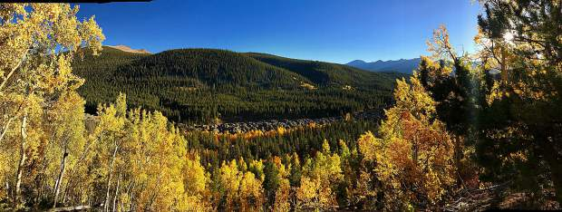 Fall colors in Summit County.