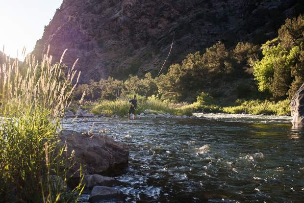 A serene setting in Black Canyon of the Gunnison National Park.