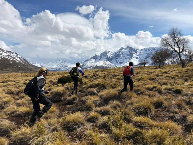 Summit County local Olof Hedberg and members of his Team Adventure Medical Kits race off-trail during their victory at last week's 200-plus mile