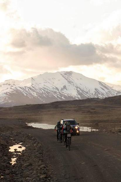 Team Adventure Medical Kits pedals their mountain bikes in first place during their victory at last week's 200-plus-mile, multi-day Adventure Racing win in Argentina's Patagonia.