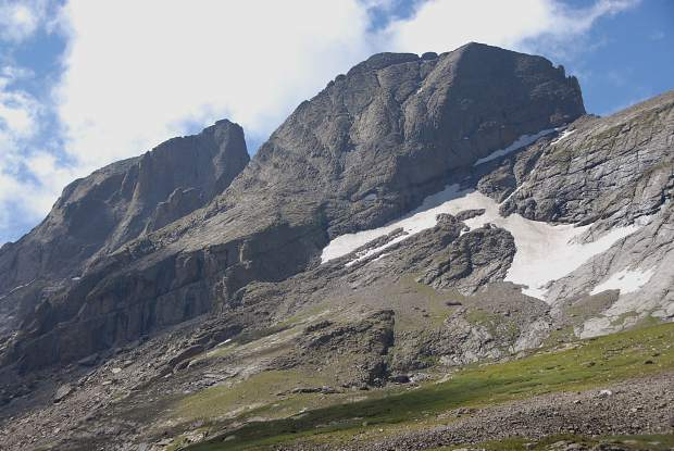 Kim Fenske of Copper Mountain took this photo of the 14,165-foot Kit Carson Mountain from below Challenger Point.