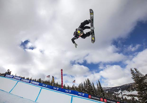 Eagle resident Jake Pates executes a trick during the Toyota U.S. Grand Prix qualifiers Thursday, Dec. 6, at Copper Mountain.