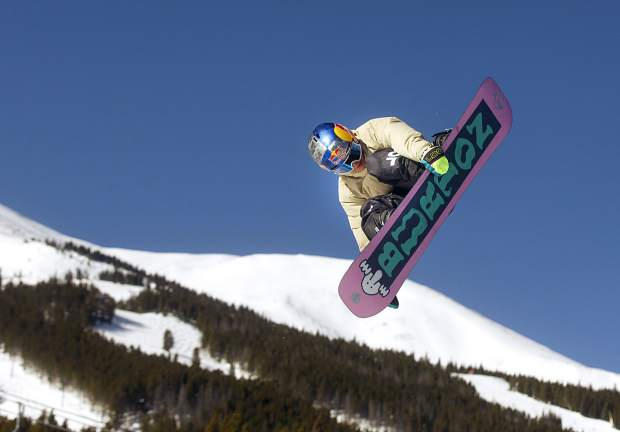 Jake Canter, 15, executes a trick in mid-air at Breckenridge Ski Resort on Friday, Feb. 1. The 5-foot-4, 115-pound Silverthorne-resident rider Canter competed at the Winter X Games in Aspen last week fewer than two years after a serious head injury nearly took his life.