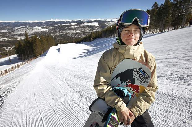 Snowboarder Jake Canter, 15, poses for a photograph with his Burton snowboarder on Friday, Feb. 1, at Breckenridge Ski Resort. The Silverthorne-resident rider Canter competed at the Winter X Games in Aspen last week fewer than two years after a serious head injury nearly took his life.