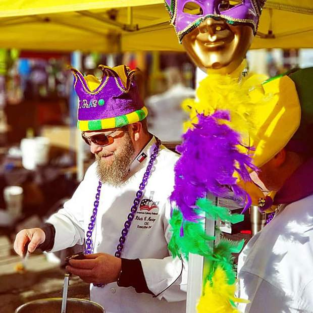 Keystone's gumbo party has an award for best team spirit so don't be surprised to see chef's decked out in Mardi Gras flare.
