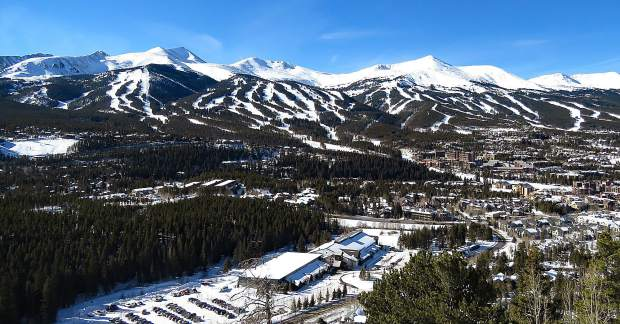 Bluebird day in Breckenridge.