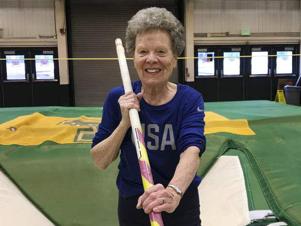 Pole vaulter, 84, sets her sights on more records