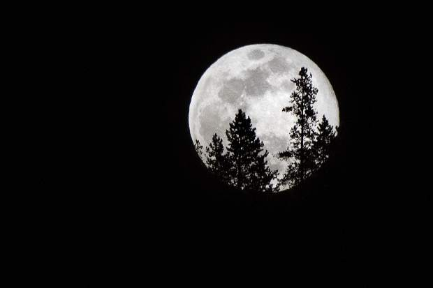 A full moon seen from Frisco on Wednesday night.