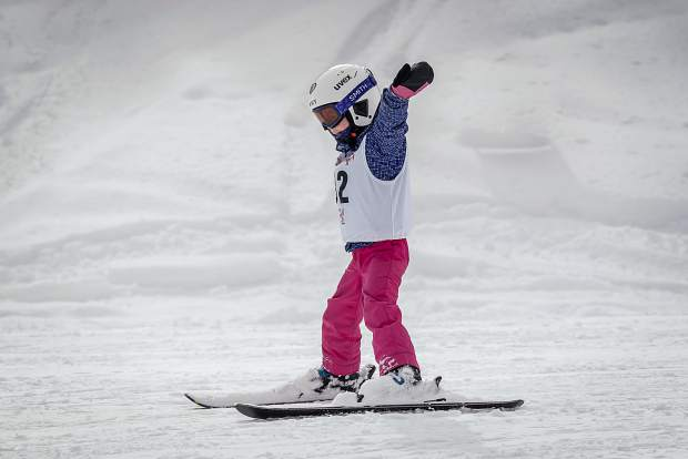 A young athlete enjoys skiing during this past weekend's 2019 Special Olympics Colorado State Winter Games at Copper Mountain Resort.