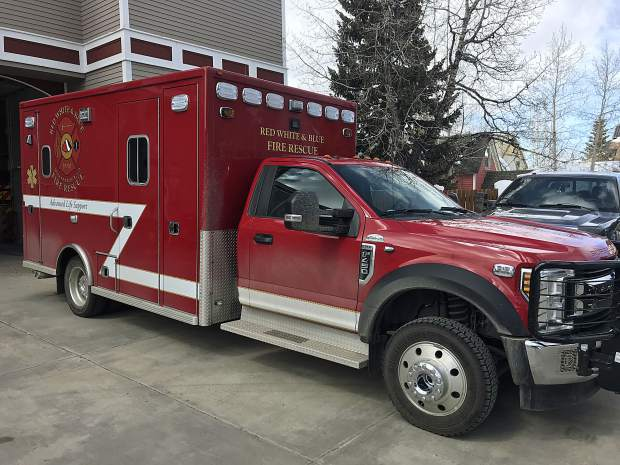 A look at Red, White & Blue's new ambulance.