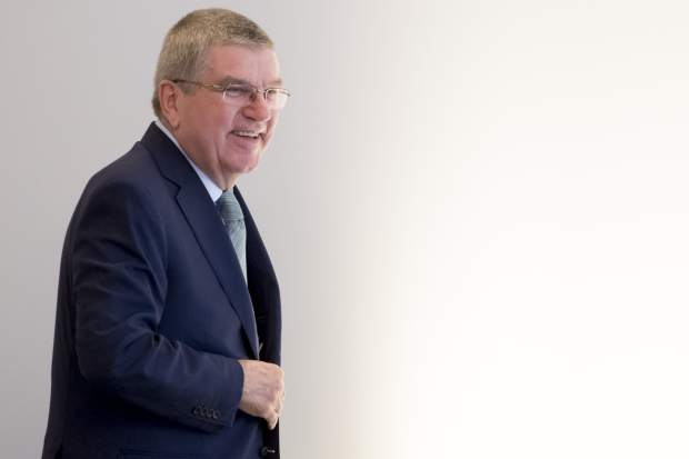 International Olympic Committee (IOC) president Thomas Bach from Germany arrives at the opening of the first day of the executive board meeting of the International Olympic Committee (IOC), in Lausanne, Switzerland on Tuesday.