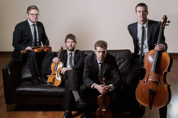The Altius String Quartet will perform Sunday with pianist Hsing-ay Hsu.