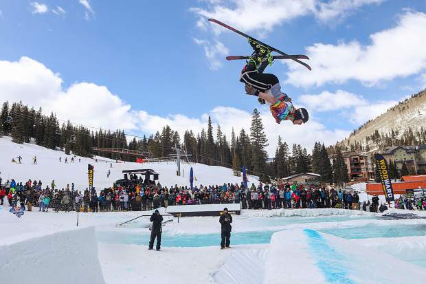 Red Bull comes to town with the eighth annual SlopeSoakers contest on Saturday, April 20. Compared to previous iterations, the unique pond skimming-event will have larger water features and bigger floating rails.