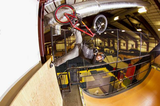 X Games BMX medalist Morgan Wade sessions at the Woodward Copper barn at Copper Mountain Resort in January 2013.