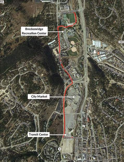 Breckenridge closes recpath from Watson Ave. to rec center