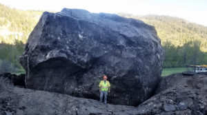 Rockslide, with house-size boulder, wipes out section of highway in southwest Colorado
