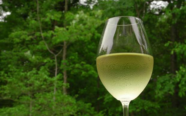 Even without the forest behind it a glass of crisp, chilled sauvignon blanc canbe highlighted by herbaceous, green flavors.