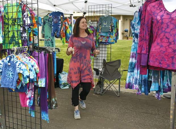 Stacy Golden Designs clothing at the Dillon Farmers Market Friday, June 7, in Dillon.