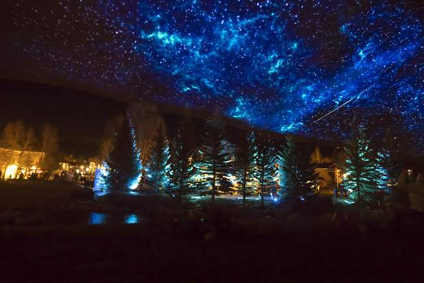 Light Flows by ACT Lighting Design illuminate above the Riverwalk Center lawn Friday, May 31, in Breckenridge.