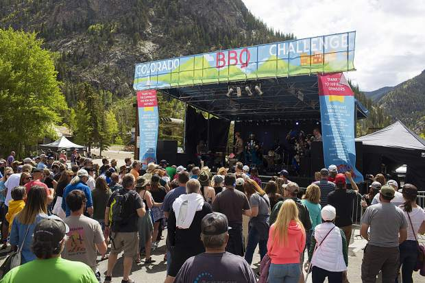 Band Tribal Gold performs on the main stage, Saturday June 15, during the 26th Annual Colorado BBQ Challenge in Frisco.