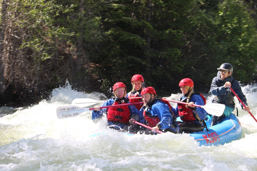 Summit Daily sports & outdoors editor Antonio Olivero rafts with the Houlberg family of Atlanta, Georgia on Tuesday morning, guided by KODI Rafting's Donny MacLachlan on a portion of the Blue River roaring at 1,690 cubic-feet-per-second.
