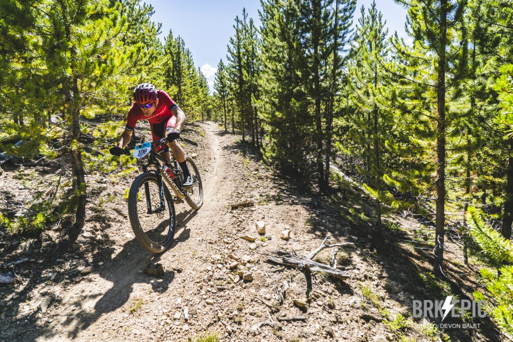 Daniel Munoz rides singletrack during the fourth stage of this year's 6-day Breck Epic mountain bike race, the 41-mile Aqueduct.