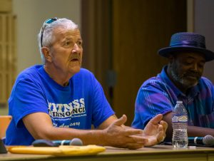 Gary Drinkard shares his story at Colorado Mountain College in Breckenridge on Tuesday, Aug. 20 of his years of being on death row for a crime he didn't commit.
