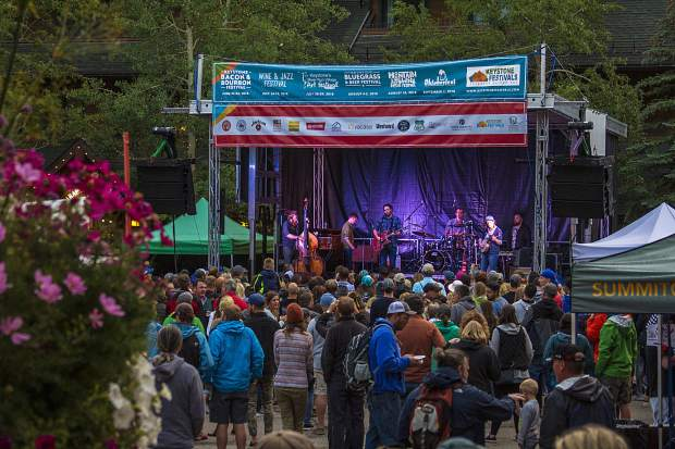 Four live bands will perform in River Run Village at Keystone's Mountain Town Music Festival. The first band, Josh Hoyer & Soul Colossal, plays at 1:30 p.m.