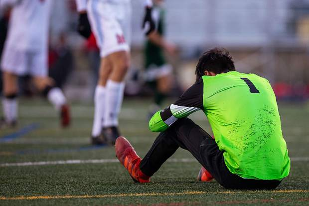 It was elation for one side and depression for the other at the end of the Summit High varsity boys soccer team's 1-0 win over Glenwood Springs on Thursday night at Tiger Stadium in Breckenridge.